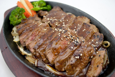 FILLET MIGNON TERIYAKI HOT PLATE