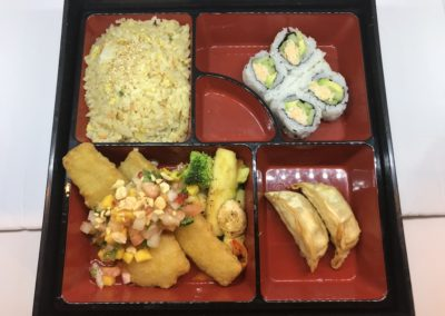 COD FISH TEMPURA LUNCH BENTO BOX